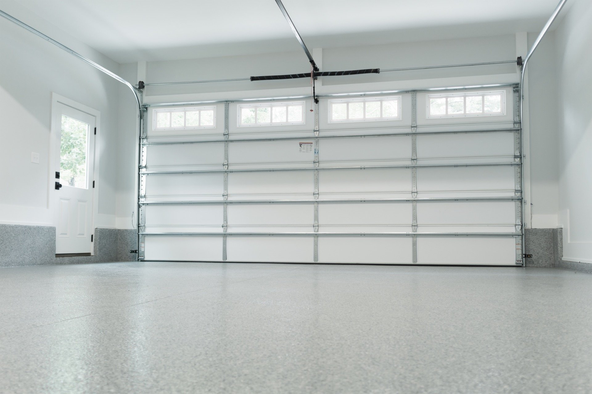 Energy efficient garage doors from inside